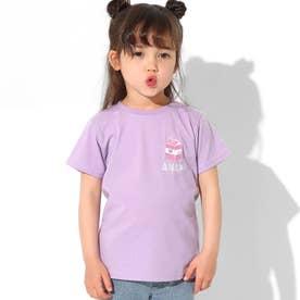 吸水速乾サマーワンポイントTシャツ(ラベンダー)