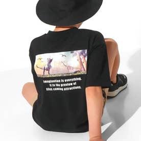 ダイナソーフォトビッグTシャツ(ブラック)