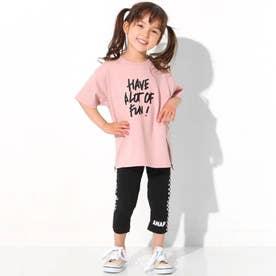 サイドジップ付ビッグTシャツ(ピンク)