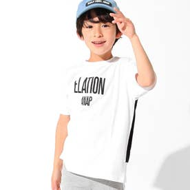 バイカラープリントビッグTシャツ(オフホワイト)