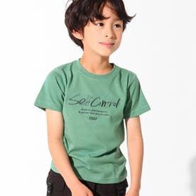 制菌刺繍ロゴTシャツ(カーキ)