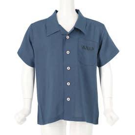 オープンカラーシャツ(ブルー)