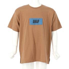 吸水速乾デニムパッチビッグTシャツ(モカ)