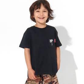 制菌ポケット付きパームツリービッグTシャツ(ブラック)
