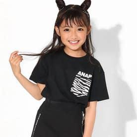 制菌アニマルポケットビッグTシャツ(ブラック)