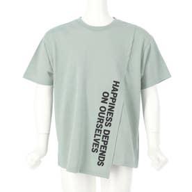 フロント切替ビッグTシャツ(グリーン)