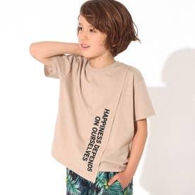 フロント切替ビッグTシャツ(ベージュ)