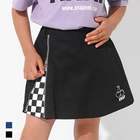 インパン付きチェリー刺繍スカート(ブラック)