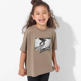 スケートボードフォトビッグTシャツ(グレージュ)