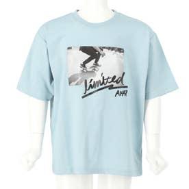 スケートボードフォトビッグTシャツ(サックスブルー)