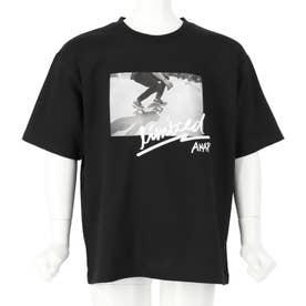 スケートボードフォトビッグTシャツ(ブラック)