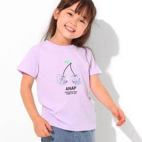 クリアチェリースパンコールTシャツ(ラベンダー)