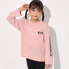 抗菌防臭袖ロゴビッグロンT(ピンク)