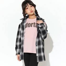 チェックロングシャツ(ブラック)