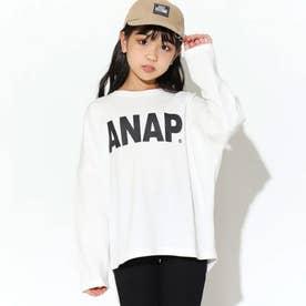 ANAPロゴプリントミニ裏毛トップス(オフホワイト)