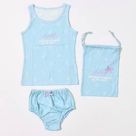 制菌インナータンクトップ+ショーツセット巾着付 【返品不可商品】 (サックスブルー)