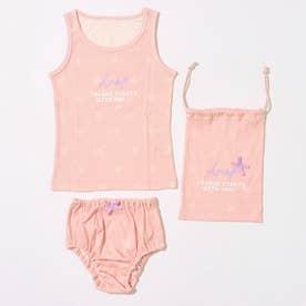 制菌インナータンクトップ+ショーツセット巾着付 【返品不可商品】 (ライトピンク)