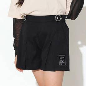 ボックスプリーツキュロットスカート(ブラック)