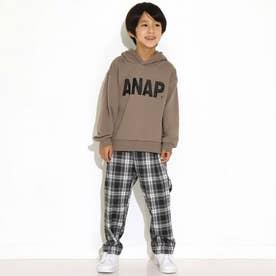 ANAPロゴサークルプリント裏毛フーディートップス(グレージュ)
