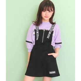 ハートジップ付ジャンパースカート(ブラック)