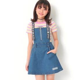 ハートジップ付ジャンパースカート(ブルー)