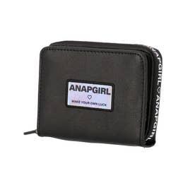ロゴジップ二つ折り財布(ブラック)