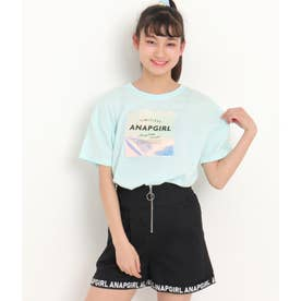 ホログラムワッペンクロップドTシャツ(サックスブルー)