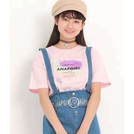 ホログラムワッペンクロップドTシャツ(ベビーピンク)