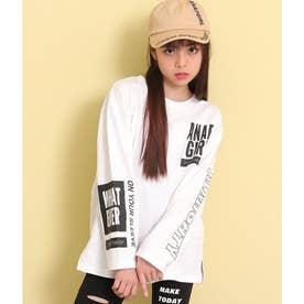 ビッグサイズロングTシャツ(ホワイト)