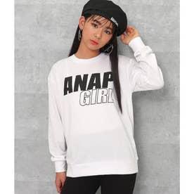 バックロゴメッセージロングTシャツ(ホワイト)