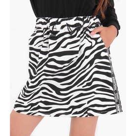 ツイルテープ付インパンツスカート(ホワイト/ブラック)
