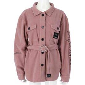 ベルト付CPOシャツ(ピンク)