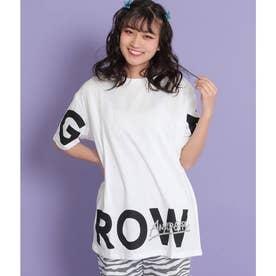 裾ビッグロゴビッグTシャツ(ホワイト)