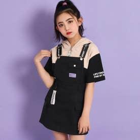 ホログラムテープ付きジャンパースカート(ブラック)