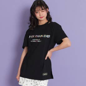 ホログラムロゴビッグTシャツ(ブラック)