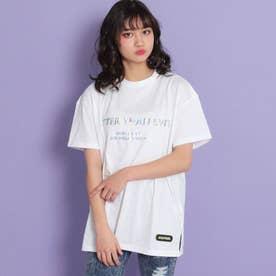 ホログラムロゴビッグTシャツ(ホワイト)