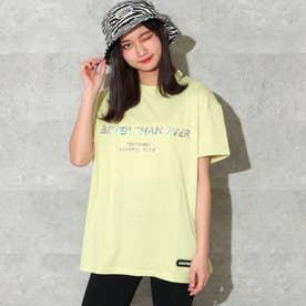 ホログラムロゴビッグTシャツ(ライム)