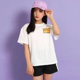 Tシャツ+ラインショートパンツセットアップ(ホワイト)