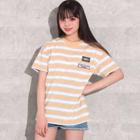 カラーボーダービッグTシャツ(オレンジ)