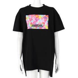 ベアグミ転写ボックスTシャツ(ブラック)