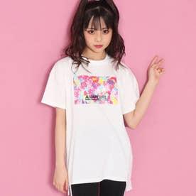 ベアグミ転写ボックスTシャツ(ホワイト)