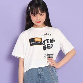 ハーフプリントクロップドTシャツ(ホワイト)