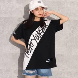 ダメージビッグTシャツ(ブラック)