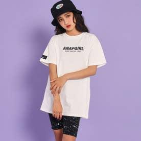 バックランダムロゴTシャツ(ホワイト)