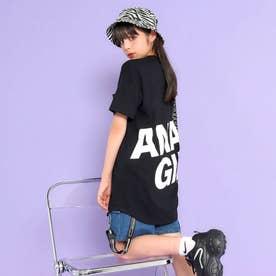 後ろビッグロゴラウンドTシャツ(ブラック)