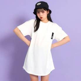 後ろビッグロゴラウンドTシャツ(ホワイト)