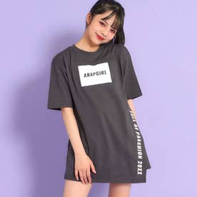 アシンメトリーチュニックTシャツ(アッシュブラック)