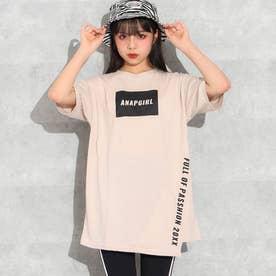 アシンメトリーチュニックTシャツ(ベージュ)