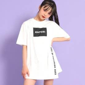 アシンメトリーチュニックTシャツ(ホワイト)