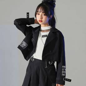 2パターンリング付ショート丈ジャケット(ブラック)